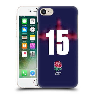 OFFICIAL ENGLAND RUGBY UNION 2016/17 ALTERNATE KIT Position 15 Hard Back Case for Apple iPhone 7