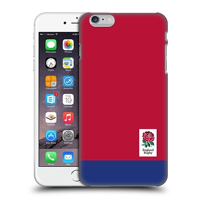 OFFICIAL ENGLAND RUGBY UNION 2016/17 THE ROSE Colour Block Hard Back Case for Apple iPhone 6 Plus / 6s Plus