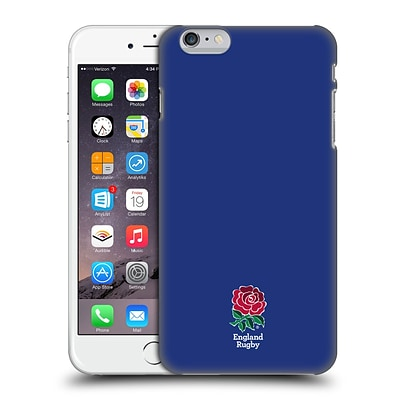 OFFICIAL ENGLAND RUGBY UNION 2016/17 THE ROSE Plain Navy Hard Back Case for Apple iPhone 6 Plus / 6s Plus