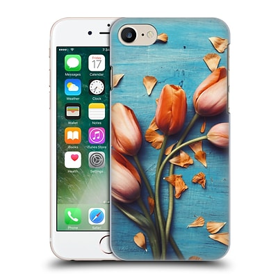 OFFICIAL OLIVIA JOY STCLAIRE ON THE TABLE Orange Tulips Hard Back Case for Apple iPhone 7