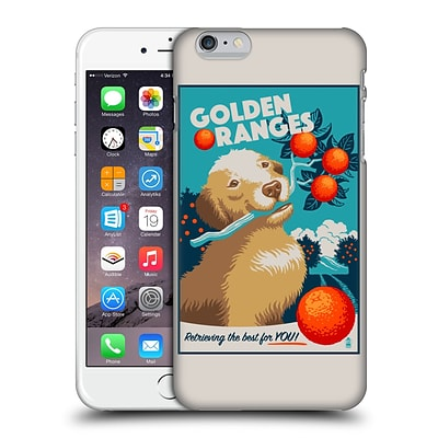 OFFICIAL LANTERN PRESS DOG COLLECTION Golden Oranges Hard Back Case for Apple iPhone 6 Plus / 6s Plus