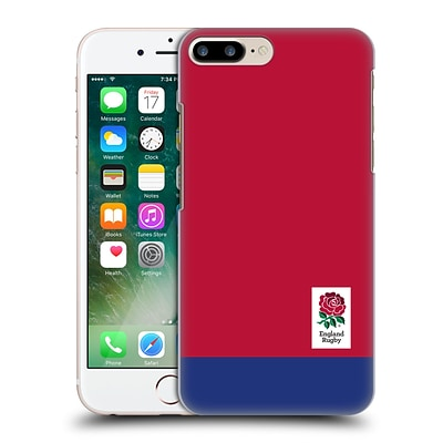 OFFICIAL ENGLAND RUGBY UNION 2016/17 THE ROSE Colour Block Hard Back Case for Apple iPhone 7 Plus