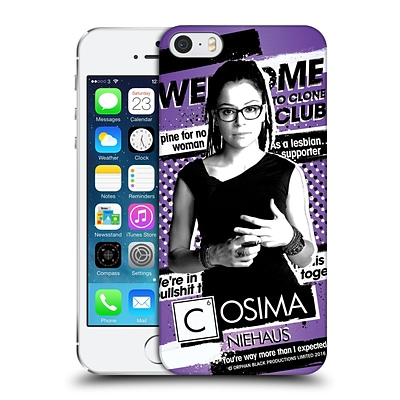 OFFICIAL ORPHAN BLACK #CLONECLUB Cosima Niehaus Hard Back Case for Apple iPhone 5 / 5s / SE