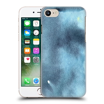 OFFICIAL JULIEN CORSAC MISSAIRE ABSTRACT 2 Marbled Milk Shades of Blue Azur Hard Back Case for Apple iPhone 7
