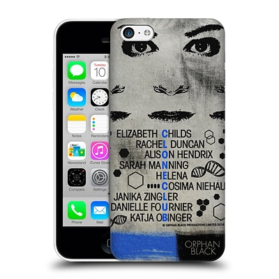 OFFICIAL ORPHAN BLACK POSTERS Clone Club Hard Back Case for Apple iPhone 5c