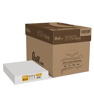 Quill Brand® 8.5 x 11 Multipurpose Copy Paper, 20 lbs., 94 Brightness, 500 Sheets/Ream, 10 Reams/Carton (720700CT)