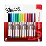 Sharpie Permanent Marker, Ultra Fine Tip, Assorted Colors, 12/Pack (37175)