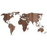 Paperflow Office Deco Wall Transfers, Wooden Worldmap 43 x 21 (16200)
