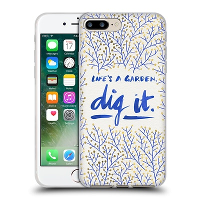 OFFICIAL CAT COQUILLETTE QUOTES TYPOGRAPHY 2 Dig It Navy Soft Gel Case for Apple iPhone 7 Plus