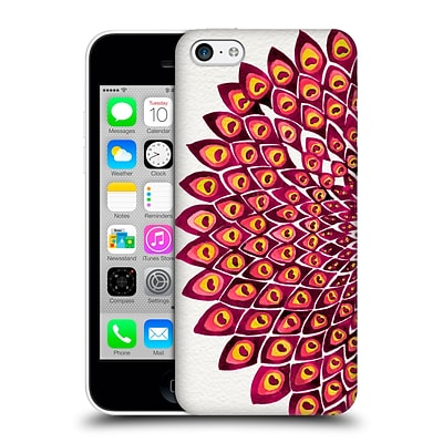 OFFICIAL CAT COQUILLETTE MANDALA Peacock Pink Hard Back Case for Apple iPhone 5c