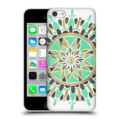 OFFICIAL CAT COQUILLETTE MANDALA Mint Hard Back Case for Apple iPhone 5c