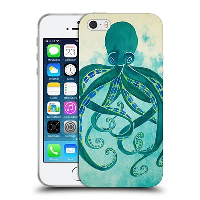 OFFICIAL CAT COQUILLETTE SEA Octopus Soft Gel Case for Apple iPhone 5 / 5s / SE