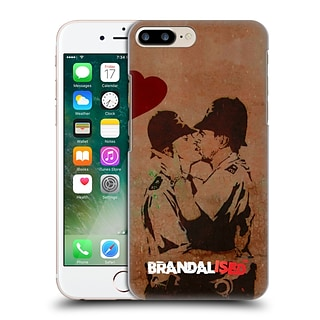 OFFICIAL BRANDALISED BANKSY VANDALS Kissing Cops Hard Back Case for Apple iPhone 7 Plus