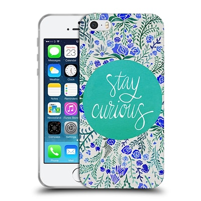 OFFICIAL CAT COQUILLETTE QUOTES TYPOGRAPHY 4 Stay Curious Turquoise Soft Gel Case for Apple iPhone 5 / 5s / SE