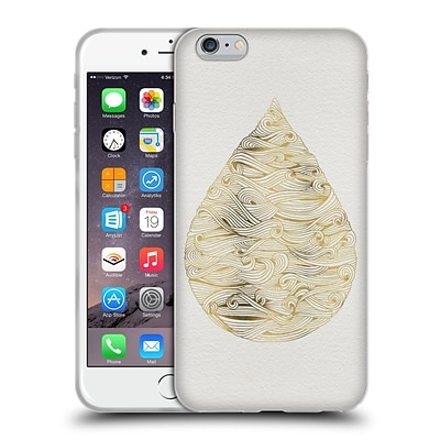 OFFICIAL CAT COQUILLETTE WATERCOLOUR ILLUSTRATIONS 2 Gold Water Drop Soft Gel Case for Apple iPhone 6 Plus / 6s Plus