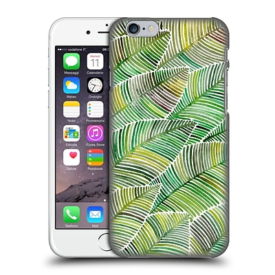OFFICIAL CAT COQUILLETTE PATTERNS Greens Tropical Leaves Hard Back Case for Apple iPhone 6 / 6s