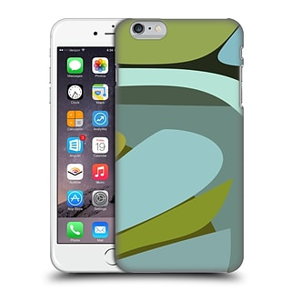 OFFICIAL MAGDALENA HRISTOVA CLEAN LINES 3 Green 5 Hard Back Case for Apple iPhone 6 Plus / 6s Plus