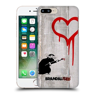 OFFICIAL BRANDALISED BANKSY TAGS Love Rat Hard Back Case for Apple iPhone 7 Plus