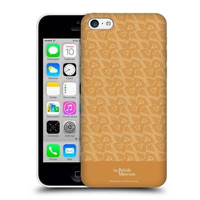 OFFICIAL BRITISH MUSEUM DECORATION AND CEREMONY Slanted Pattern Hard Back Case for Apple iPhone 5c