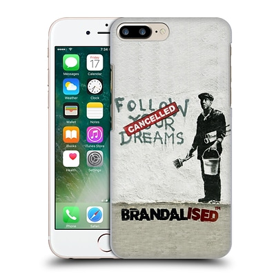 OFFICIAL BRANDALISED BANKSY WALL ART Follow Your Dreams Hard Back Case for Apple iPhone 7 Plus