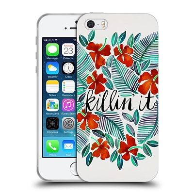 OFFICIAL CAT COQUILLETTE QUOTES TYPOGRAPHY 4 Killin It Red Soft Gel Case for Apple iPhone 5 / 5s / SE