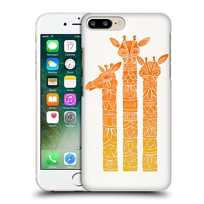 OFFICIAL CAT COQUILLETTE ANIMALS Orange Ombre Girrafes Hard Back Case for Apple iPhone 7 Plus