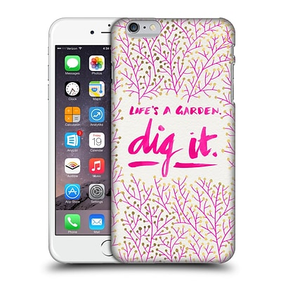 OFFICIAL CAT COQUILLETTE QUOTES TYPOGRAPHY 2 Dig It Pink Hard Back Case for Apple iPhone 6 Plus / 6s Plus