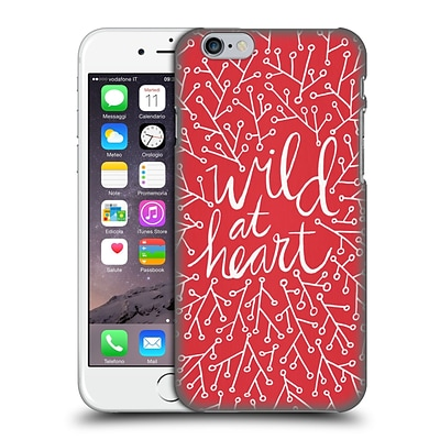OFFICIAL CAT COQUILLETTE QUOTES TYPOGRAPHY 3 Wild At Heart Red Hard Back Case for Apple iPhone 6 / 6s