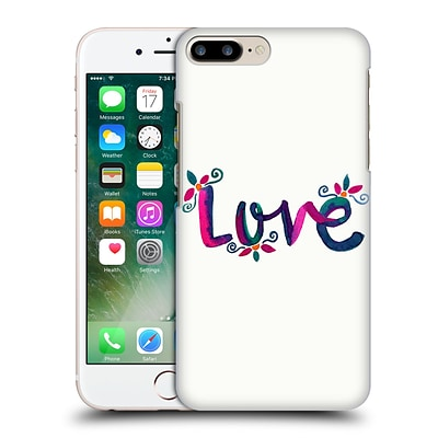 OFFICIAL POM GRAPHIC DESIGN TYPOGRAPHY Love Hard Back Case for Apple iPhone 7 Plus