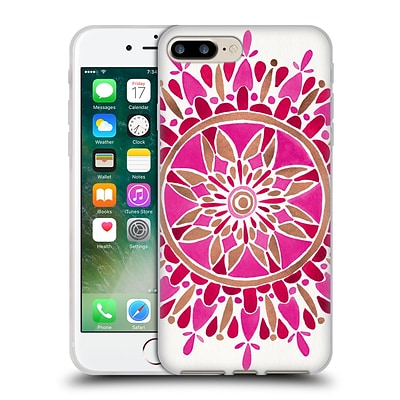 OFFICIAL CAT COQUILLETTE MANDALA Magenta Soft Gel Case for Apple iPhone 7 Plus