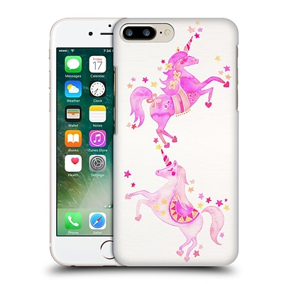 OFFICIAL CAT COQUILLETTE WATERCOLOUR ILLUSTRATIONS Unicorns Pink Hard Back Case for Apple iPhone 7 Plus