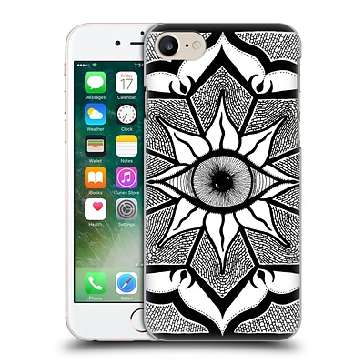 OFFICIAL PETER BARREDA BLACK AND WHITE MANDALAS Osiori Hard Back Case for Apple iPhone 7