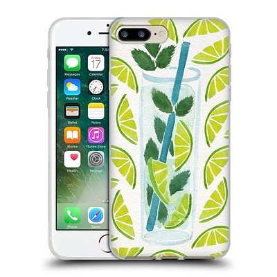 OFFICIAL CAT COQUILLETTE MIXED DRINKS Mojito Soft Gel Case for Apple iPhone 7 Plus