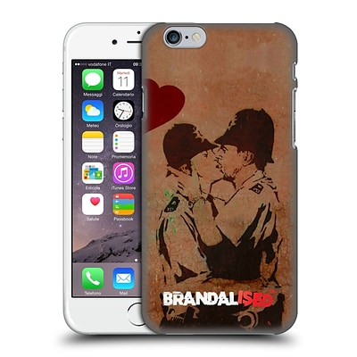 OFFICIAL BRANDALISED BANKSY VANDALS Kissing Cops Hard Back Case for Apple iPhone 6 / 6s