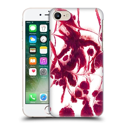 OFFICIAL JULIEN CORSAC MISSAIRE ABSTRACT 2 Marbled Paint Flash Red Hard Back Case for Apple iPhone 7