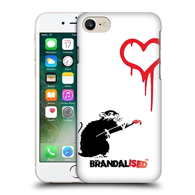 OFFICIAL BRANDALISED BANKSY RED BLACK ART Love Rat Hard Back Case for Apple iPhone 7
