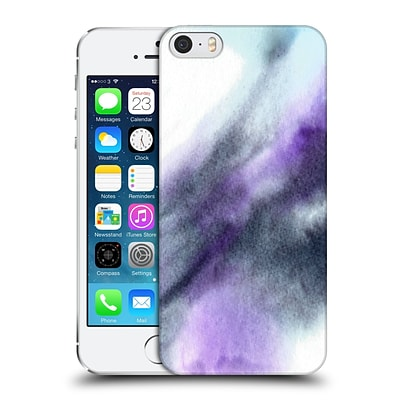 OFFICIAL JULIEN CORSAC MISSAIRE ABSTRACT Marbled Milk Black Purple Hard Back Case for Apple iPhone 5 / 5s / SE