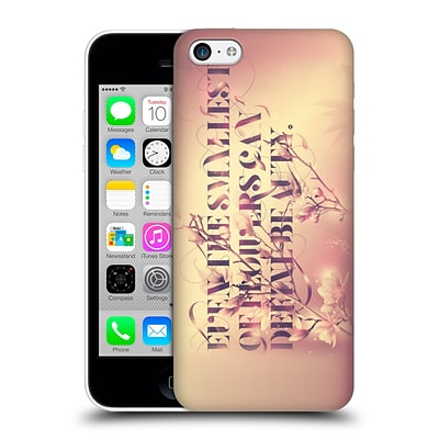 OFFICIAL PETE AEIKO HARRISON TYPOGRAPHY Even The Smallest Of Flowers Hard Back Case for Apple iPhone 5c
