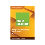 H&R Block Basic Tax Software 2019 for 1 User, Windows and Mac, CD/Download (1033600-19)