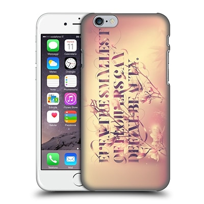 OFFICIAL PETE AEIKO HARRISON TYPOGRAPHY Even The Smallest Of Flowers Hard Back Case for Apple iPhone 6 / 6s