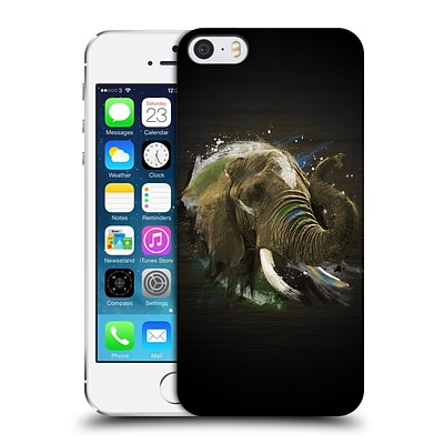 OFFICIAL ARON ART ANIMALS Elephant Hard Back Case for Apple iPhone 5 / 5s / SE