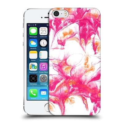 OFFICIAL JULIEN CORSAC MISSAIRE ABSTRACT 3 Marbled Paint Pink Orange Hard Back Case for Apple iPhone 5 / 5s / SE