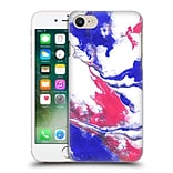 OFFICIAL JULIEN CORSAC MISSAIRE ABSTRACT 3 Marbled Paint Pink Blue Hard Back Case for Apple iPhone