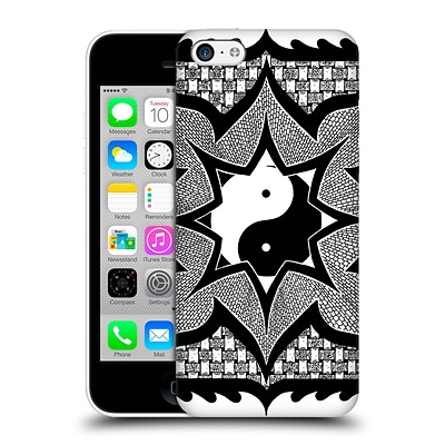OFFICIAL PETER BARREDA BLACK AND WHITE MANDALAS Daorashi Hard Back Case for Apple iPhone 5c