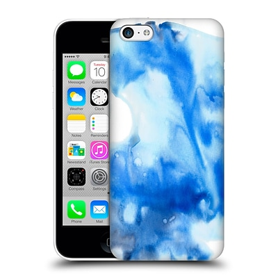 OFFICIAL JULIEN CORSAC MISSAIRE ABSTRACT Marbled Milk Blue White Hard Back Case for Apple iPhone 5c