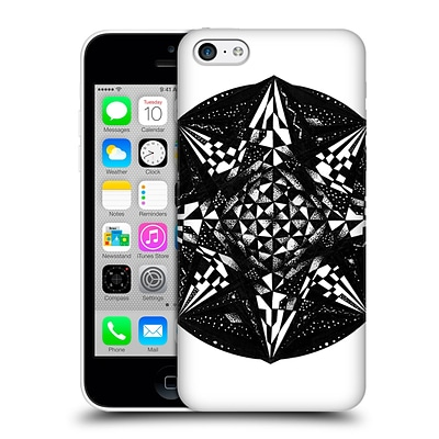 OFFICIAL JOEL GRATTE BLACK AND WHITE Geometric Hard Back Case for Apple iPhone 5c