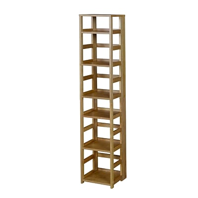 Regency Flip Flop 67 High Square Folding Bookcase- Medium Oak (FFSQ6712MO)