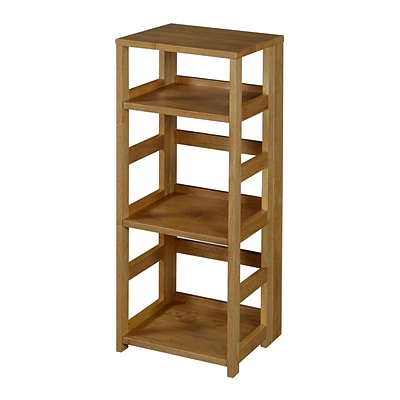 Regency Flip Flop 34 High Square Folding Bookcase- Medium Oak (FFSQ3412MO)