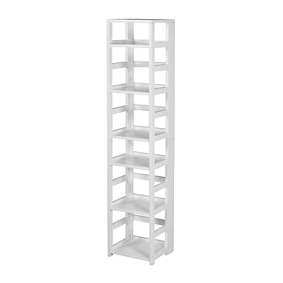 Regency Flip Flop 67 High Square Folding Bookcase- White (FFSQ6712WH)