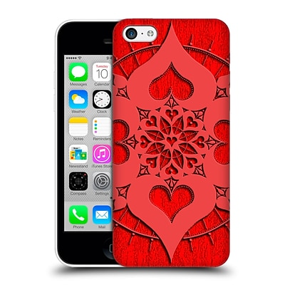 OFFICIAL PETER BARREDA LUMINOUS SPIRIT MANDALAS Lianai Red Intimate Hard Back Case for Apple iPhone 5c
